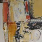 "Marilyn Johnson -- ""Significant Intentions I"" 48"" x 24"" -- acrylic on canvas"